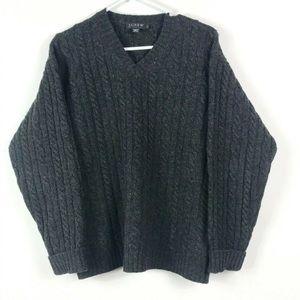 J Crew Mens Sweater 💯 Lambswool Chunky Knit SZ S